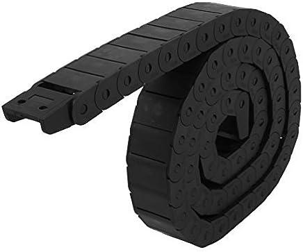 eDealMax plástico 15mm x 30mm semi cerrado de alambre del Cable de Cadena de Arrastre del
