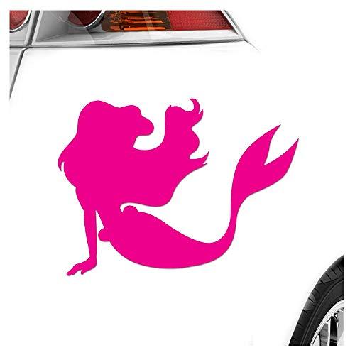 Sirène – 3 tailles disponibles pare-brise arrière Colle Sur carsticker Decal, pink-41, 40 x 29 cm