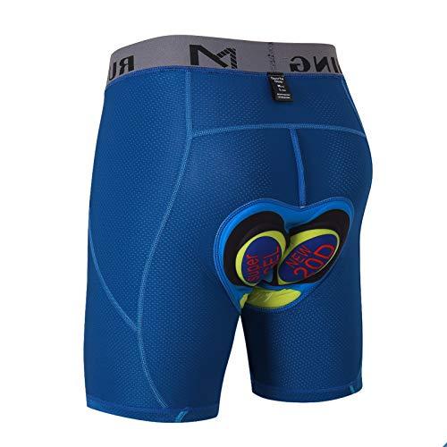 MEETYOO Pantalones Cortos de Ciclismo Hombre, Ropa Interior Ciclismo Acolchado para Bicicleta MTB