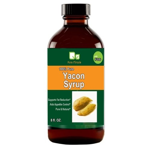 """Pure Miracle-100% Pure Yacon Syrup-""""Metabolic Game Changer""""-8 OZ.-Weight Loss Supplement/Natural Sweetener"""