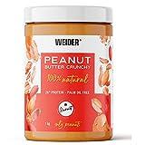 Weider Peanut Butter. 100% Mantequilla De Cacahuete natural con textura suave y con trocitos. Sin azúcares añadidos. Apta para veganos. Sin aceite de palma 1000g