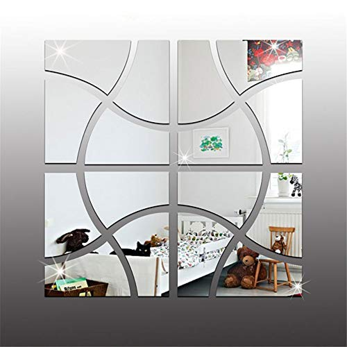 Spiegel muursticker 3D acryl spiegel muursticker moderne vierkante spiegel gang muur stickers woonkamer bank achtergrond restaurant slaapkamer woonkamer decoratie flexibele spiegel