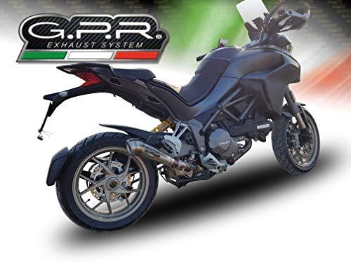 Homologierte auspuff mit verbindungsrohr GPR Powercone Evo Kompatibel mit Ducati Multistrada 1260 2018/20 e4