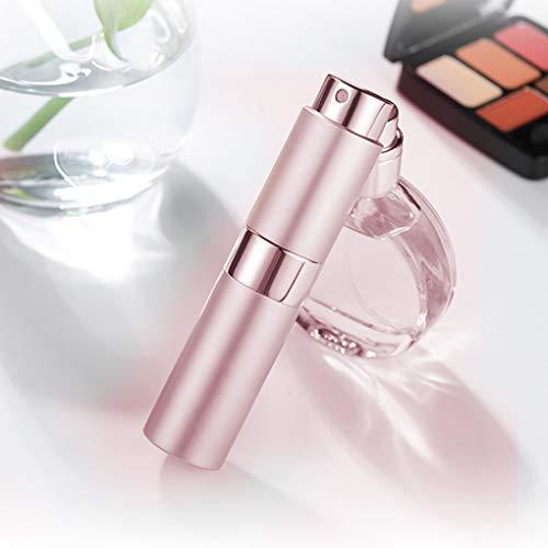 SAIBAO 1 Unidad de Botella de Perfume de Aluminio, Botella de Spray cosmética, portátil, vacío, Maquillaje, Agua, Perfume, atomizador, Botella 8ML / 15ML-Chocolate