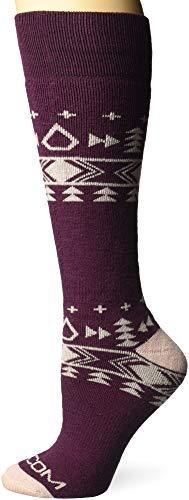 Volcom Damen T&ra Heavy Weight Snow Socken zum Snowboarden, merlot, Medium-Large