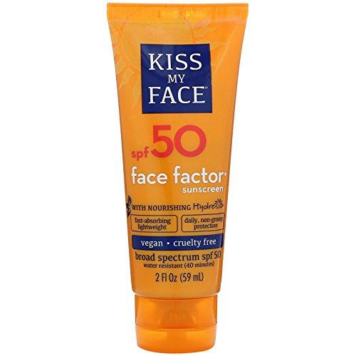 Kiss My Face Face Factor Face + Neck Sunscreen SPF 50, 2 OZ