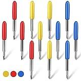12 Piezas (30/45/60 Grados) Cuchillas de Plotter de Corte de Vinilo Cuchillas de Letras Cortador de Vinilo Cuchillas de Corte de Plotter Cuchillas de Repuesto