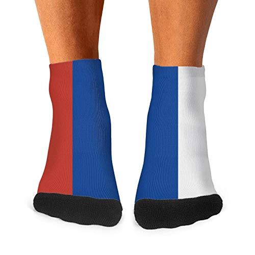 Men's Casual Daily Socks Russian Flag Athletic Novelty Ankle Crew Training Socks No Show Socks