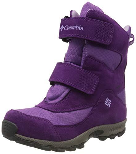 Columbia Youth Parkers Peak Boot, Chaussures de Randonnée Hautes Mixte Enfant, Violet (Crown Jewel, Phantom Purple), EU 33