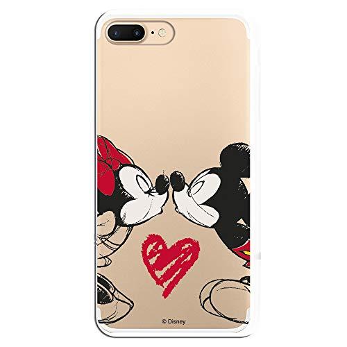 Fundas para iPhone 7 Plus y iPhone 8 Plus Oficiales de Disney. Mickey y Minnie Tus Personajes preferidos de Diseny protegiendo tu iPhone. (Mickey y Minnie Beso)