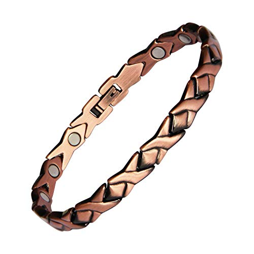 Copper Magnetic Bracelet for Women Pain Relief for Arthritis and...