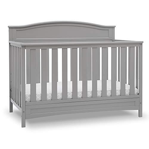 Delta Children Emery Deluxe 6-in-1 Convertible Crib, Grey