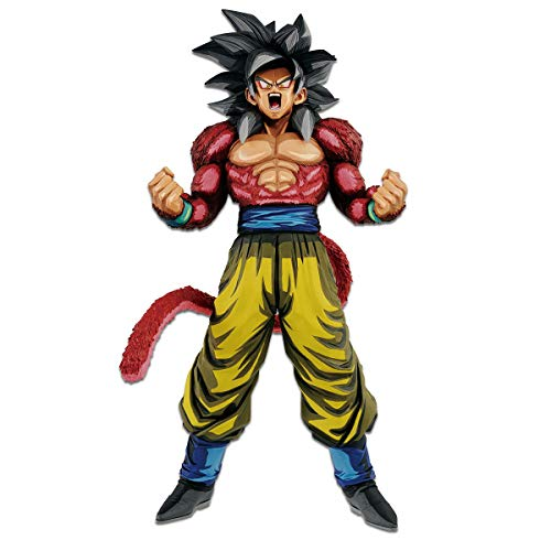 Banpresto 35742 Dragon Ball GT Master Starspiece Super Saiyan 4 Son Goku Manga Dimensions Figure, Multicolor