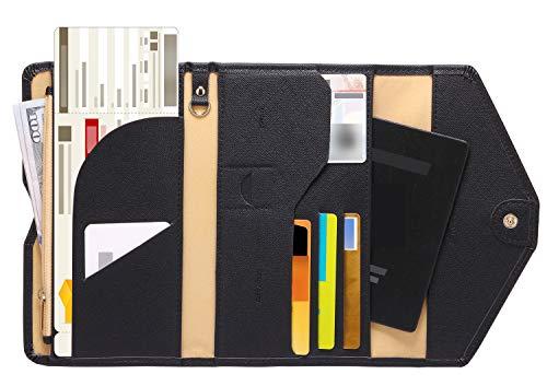 Zoppen Multi-purpose Rfid Blocking Travel Passport Wallet (Ver.4) Tri-fold...