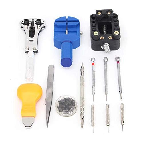 Conjunto de reparaciones profesionales Relojero de nuevo caso abrelatas del removedor de la barra del resorte del Pin 399Pcs reloj Kit de herramientas de reparación