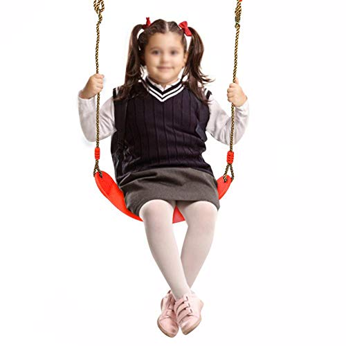 EVA Board Swing Seat with Rope, Kids Teenagers Fitness Hanging Swing Chair Toy EVA Soft Verstelbare Board Swing Seat Play Set Outdoor Toy Gift(Rood)