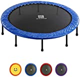 velocidad Small Rebounder Bounce Trampoline Fitness Indoor Fitness Rebounder Silent and Safe Bounce Supports Up to 330 Pounds Suitable for Children Adultspurple