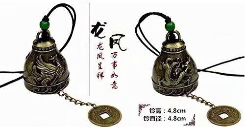 Fengshui Windspiel im traditionellen Drachen-Design, Glücksbringer, Segen für Haus und Garten