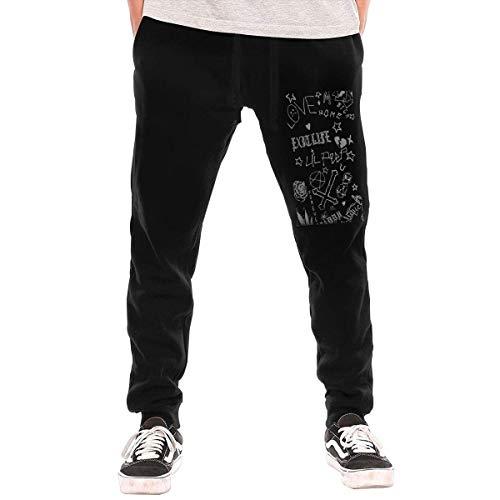 Shichangwei Lil Peep - Pantalones deportivos para hombre y hombre, con bolsillos, color negro