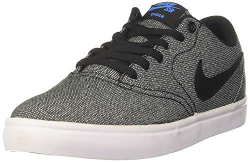 Nike Men's SB Check Solarsoft Canvas Skate Shoe (13 D(M) US, Grey/Black/Photo Blue/Black)