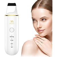 Skin Scrubber, Misiki Dispositivo de Limpieza de la Piel Facial, Ultrasónico Exfoliador Limpiador de Poros, USB 4 Modos Máquina de Anión para Cuidado de la Piel, Lifting Dispositivo de Belleza Facial