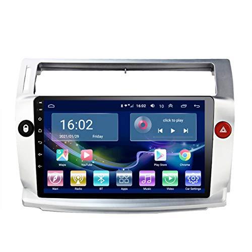 Radio de coche Android 10 para Citroen C4 C-Triomphe C-Quatre 2004-2009, reproductor multimedia Auto Radio, con manos libres Bluetooth, reproducción de vídeo 1080P,4g+wifi 2g+32g