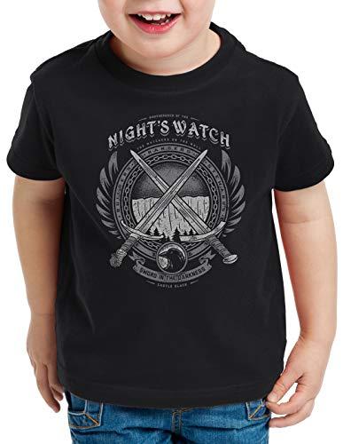 style3 Nachtwache Abzeichen T-Shirt für Kinder lied von EIS und Feuer, Größe:152