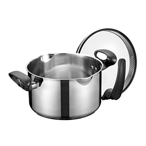 20CM Pot À Soupe En Acier Inoxydable Double Fond Pot À Soupe Cuisinière À Induction Universel Pot Soupe Pot Peut Stand 304 De Qualité Alimentaire En Acier Inoxydable