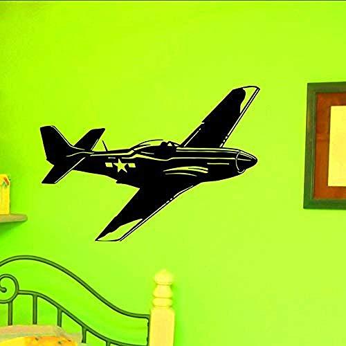 Modern design vliegtuig Silhouette muur Stickers ons luchtmacht leger luchtvaart muur Decals DIY Vinyl verwijderbare huis Decor82X58Cm
