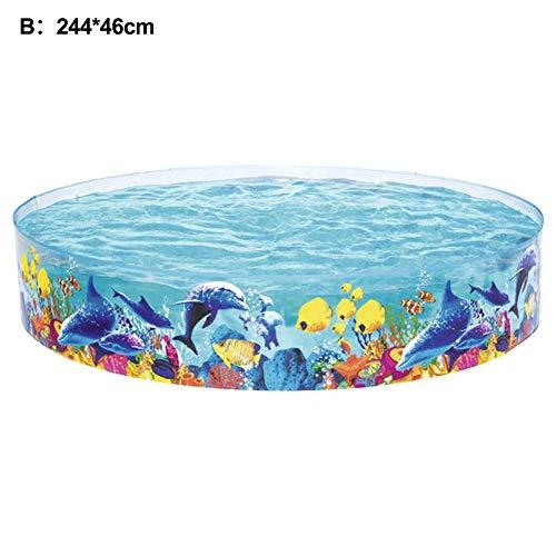 Sunnyushine Großer Aufblasbarer Pool Whirlpool Familienschwimmbad, Snap-Set im Freien Wasserspaß Garten Schwimmbad für Kinder Planschbecken, mit 1 x Aufblasbarer Pool & 1 x Patch befindet