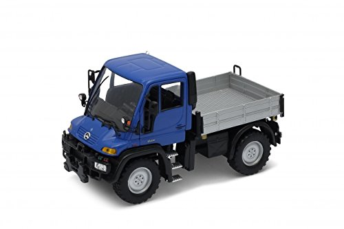 Mercedes-Benz Unimog U400, blau, Welly Auto Modell 1:32