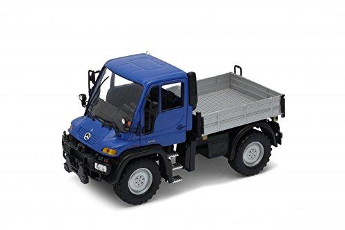 Mercedes-Benz Unimog U400, blau, Welly Auto Modell 1:32