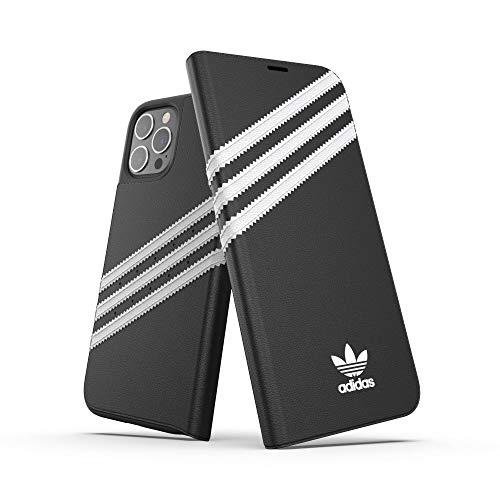 adidas Funda diseñada para iPhone 12 Pro MAX 6.7, Funda con Tapa a Prueba de caídas, Bordes elevados, Funda Original, Color Negro y Blanco
