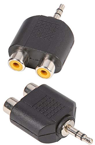 Adam Hall Connector 7550 Adaptador en Y de 2 RCA Hembra a Mini Jack 3,5 mm Macho estéreo