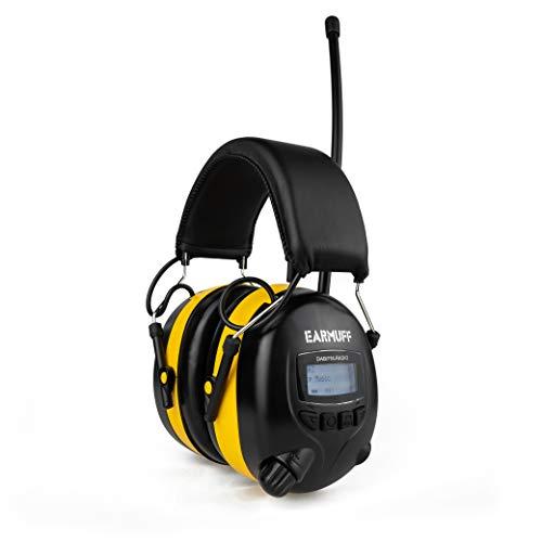 SNR31dB digital DAB+ Edition Ear Defender original 'EARMUFF' Digital AM FM MP3 / Smart phone Radio...