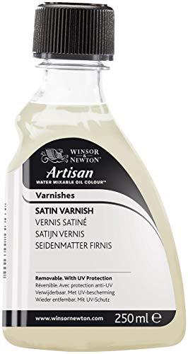 Winsor & Newton 3039727 Artisan Öl - Firnis für wassermischbare Ölfarben - Satin Firnis, 250ml Flasche