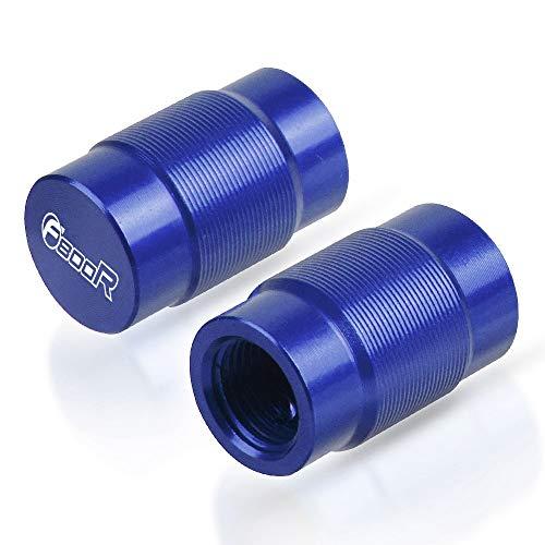 LIWENCUI- Casquillo de válvula del neumático Puerto de Aire Cubierta Accesorios de la Motocicleta for BMW F800R 2009-2020 (Color : Blue)