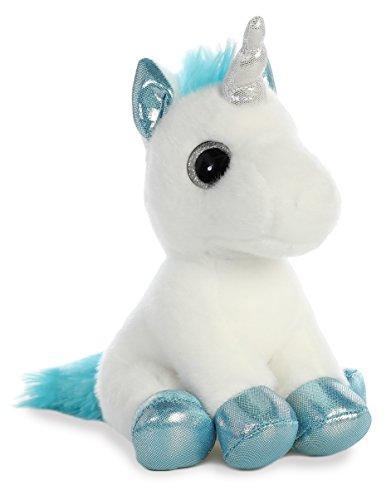 Aurora, 60956, Sparkle Tales, Snowbelle Unicornio, 7 Pulgadas, Juguete Suave, Blanco y Azul, 7 Pulgadas