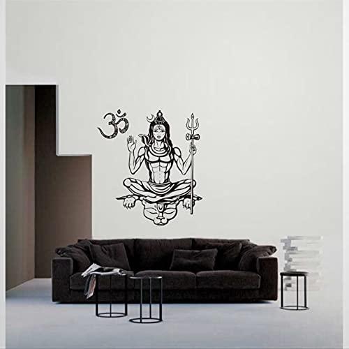 Shiva Dios budista tradición india etiqueta engomada extraíble DIY arte decoración de pared mural arte decoración de la pared decoración del hogar bk266