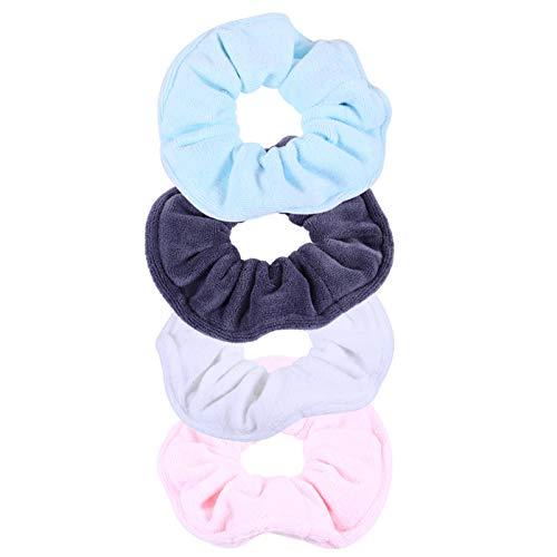 Minkissy 4 Unidades de Scrunchies para Lazos de Cabello para Mujeres Niñas Elasticos para El Cabello Cola de Caballo Titular Scrunchies Accesorios para Niñas Bandas Elásticas para El