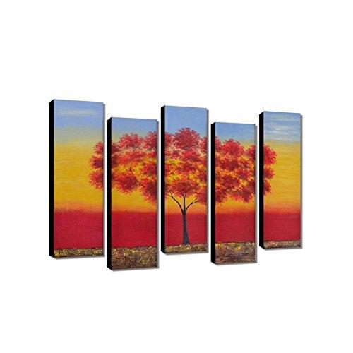 Dipinti a mano pure frameless di cinque fiore dipinto a mano olio su tela con cornice/albero/20 * 70 cm/montaggio gruppo pittura