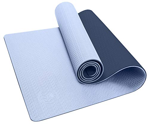 """IUGA Yoga Mat Non Slip Textured Surface, Reversible Dual Color, Eco Friendly Yoga Mat with Carrying Strap, Thick Exercise & Workout Mat for Yoga, Pilates and Fitness (72""""x 24""""x 6mm )"""