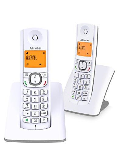 Alcatel F530 Duo - Telefono DECT Identificatore di chiamata Grigio Bianco