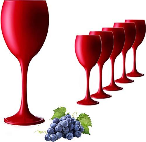 PLATINUX Juego de 6 copas de vino y agua (320 ml, cristal macizo)