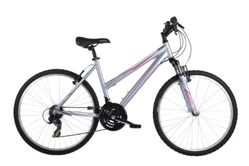 Barracuda Mystique Women's Mountain Bike Silver, 18 Inch Alloy Frame, 21-speed Alloy V-brakes Front and Rear Padded Sports Saddle with Quick-release Seat Post