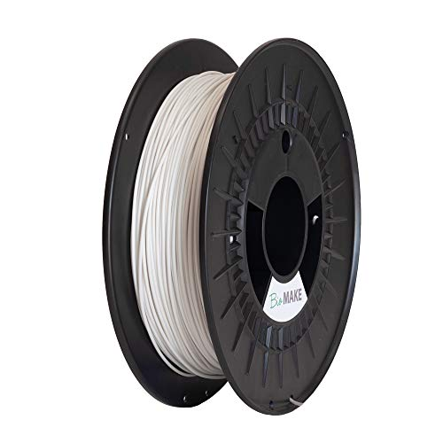 MAKE A SHAPE Filamento Stampa 3D BioMake MaterBi  SPECIAL Ø 1.75 mm, tolleranza dimensionale +/- 0,02 mm, bobina da 500g, Bianco Perla