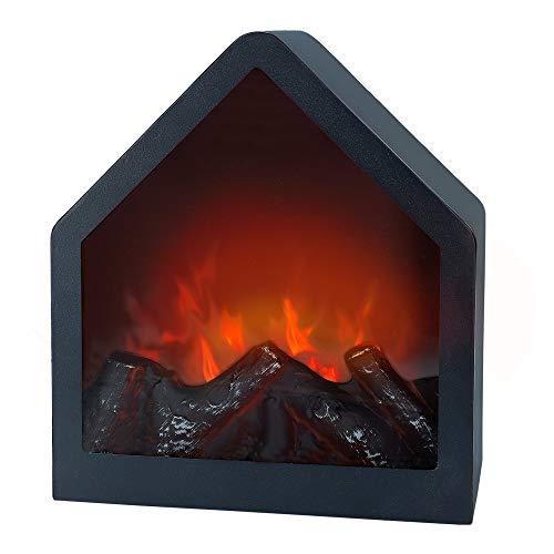 Aktive 35976 Chimenea eléctrica falsa llama LED Minimalista pentagonal, 20 x 14.5 x 23 cm