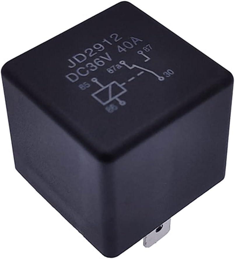 JSJJAQW Relé Auto Relé de Coche 5 Pin DC 12V 24V 36V 48V 72V 40A Bobina Power 1.8W Automóvil Control De Dispositivo Relé (Size : 5Pin 40A 36V)