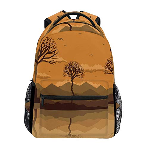 Bag Lakes Lightweight Shoulder Bag Student School Casual Durable Gift Travel Backpack Printed Bookbag Unique College Stylish