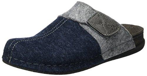 Fischer Bodo, Zapatillas de Estar por casa Hombre, Azul Jeansblau, 40 EU